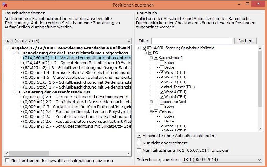 EXPRESS-Raumbuch Screen 02
