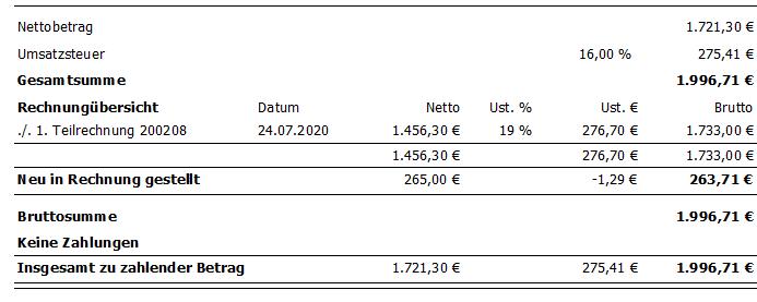 Kumulierte Rechnungen Nach Umsatzsteuersenkung 2020 Uni Electronic Gmbh