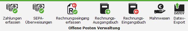 Offene Posten Verwaltung in P.2 EXCELLENT