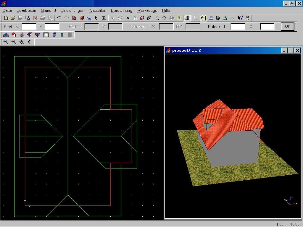 UNI-CAD-PLUS Screen
